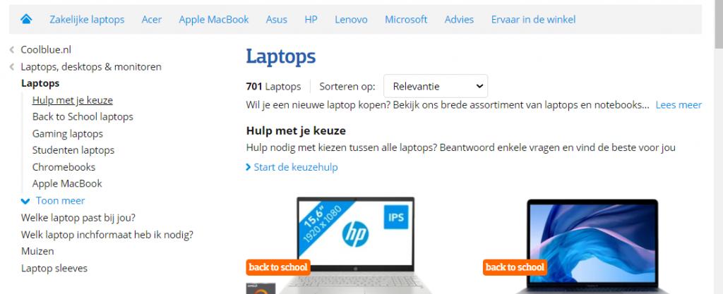 Laptop keuzehulp