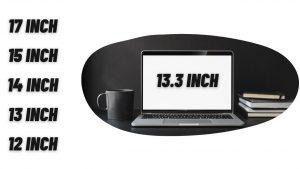 Laptop formaat, 17, 15, 14, 13, 12 inch