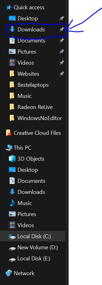 laptop schoonmaken en sneller - Download folder - Schoonmaken