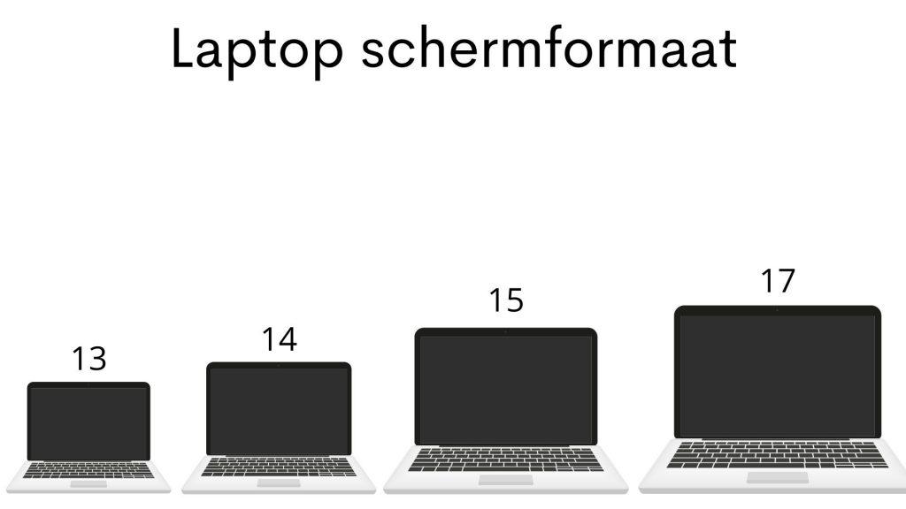 Laptop schermformaat 13, 14, 15, 17 inch